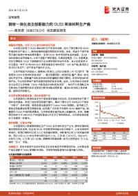 动态跟踪报告:拥有一体化自主创新能力的OLED单体材料生产商