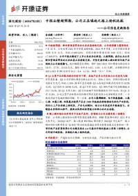 公司信息更新报告:中报业绩超预期,公司正在崛起之路上扬帆远航
